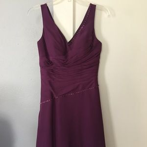 Plum purple knee length dress